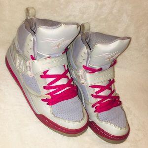 Pink and Silver Flight Jordan's
